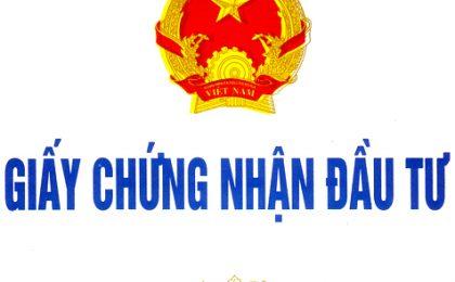 dieu chinh giay chung nhan dau tu