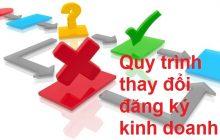 quy trình thay đổi đăng ký kinh doanh